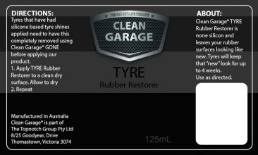 rubber restorer, clean garage